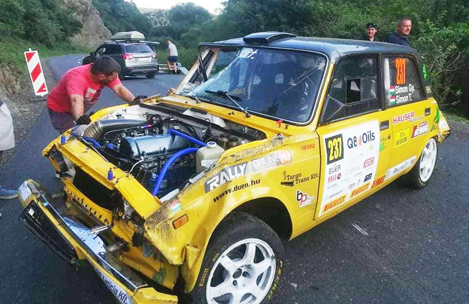 Simon LAda crash Eger Rally 2020